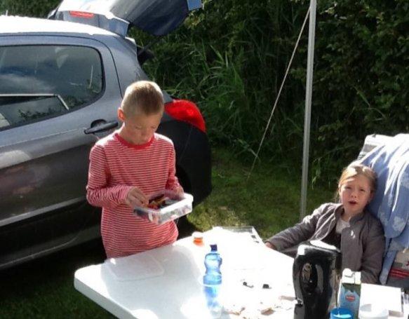 Det var vores første tur med vires nye campingvogn og vi netop har solgt efter mange års tro tjeneste????