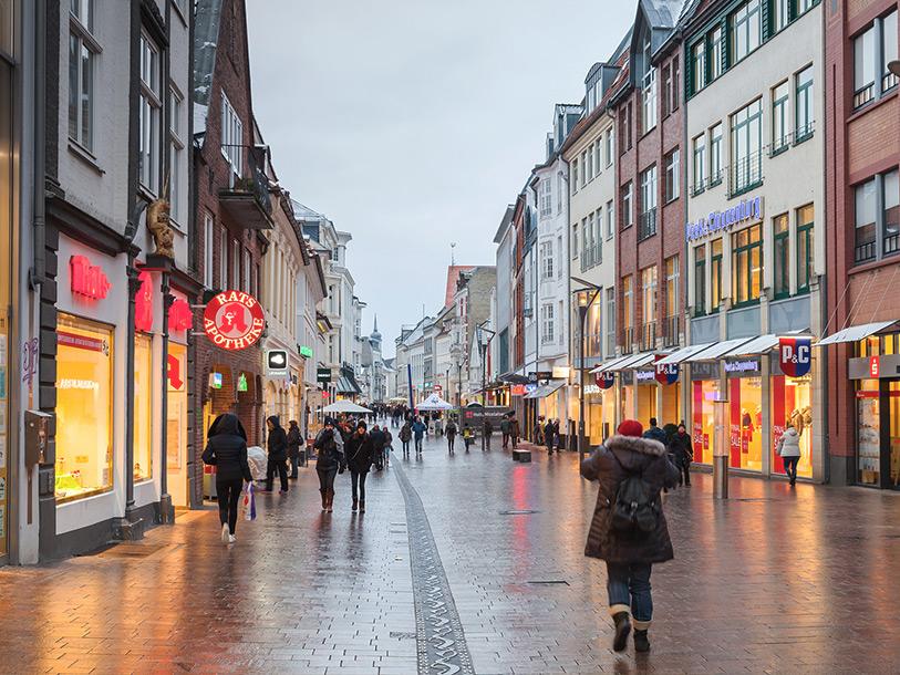 Flensborg gågade åbningstider butikker Se Vejle