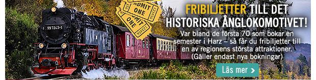 Boka en Harz-semester och få fribiljetter till ånglokomotivet